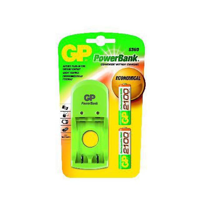 Зарядно у-во GP PB410GS210, за батерии AA/AAA, 2xAA NiMH (2100mAh) батерии image