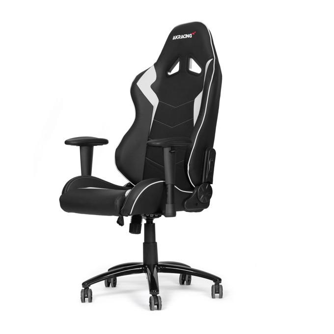 Геймърски стол AKRACING Octane White, черно-бял image