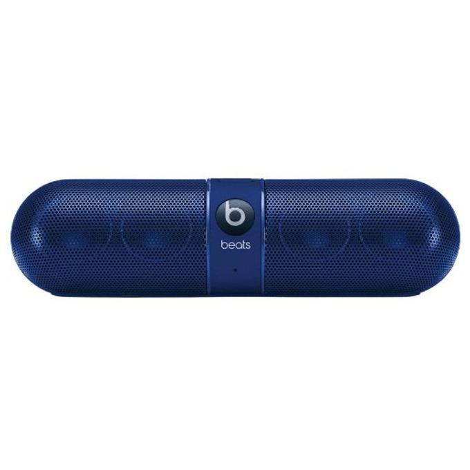 Тонколона Beats by Dre Pill 2.0 Wireless Speaker, 2.0, RMS 12W (6W + 6W), Bluetooth, синя, безжична аудио система, микрофон, оптимизирани за iPhone/iPad/iPod image