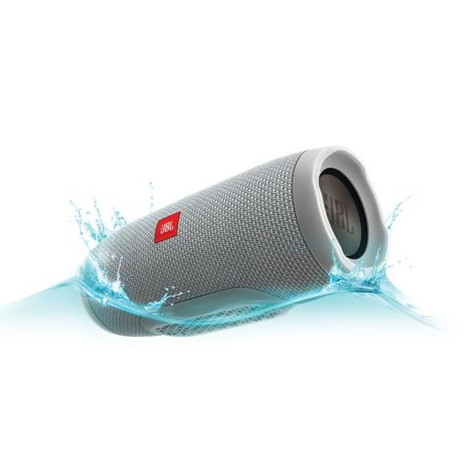 Тонколона JBL Charge 3, 2.0, 20W RMS, безжична, 3.5mm jack/Bluetooth, сив, микрофон, IPX7, до 20 часа работа image