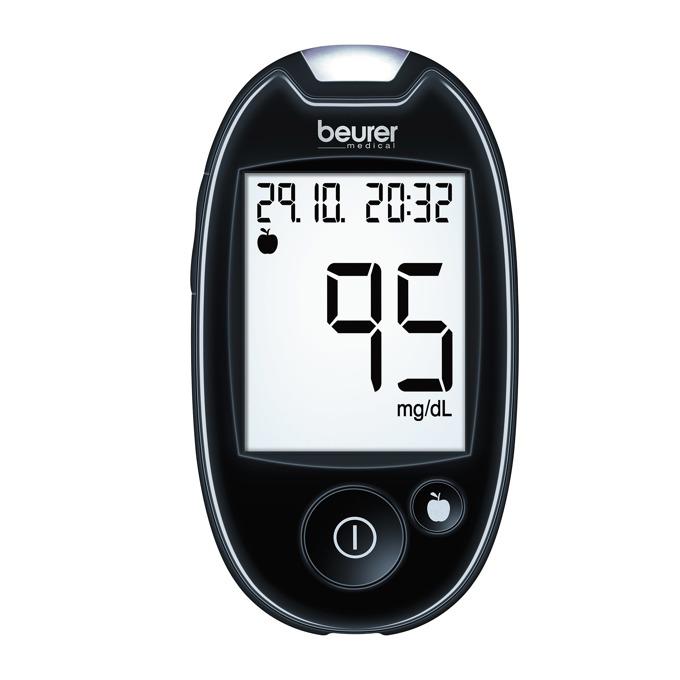 Апарат за измерване на кръвна захар Beurer GL44, 5 игли, 5 тест ленти, USB, черен image
