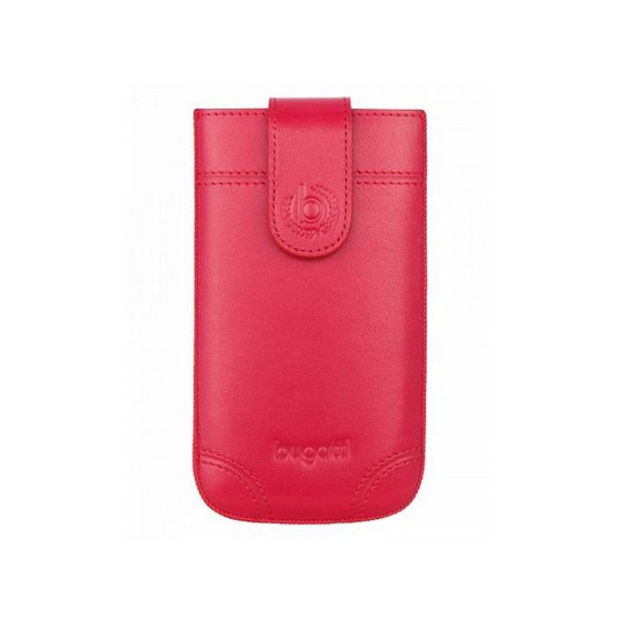 Калъф за Apple iPhone 5/5S/5C и Galaxy S4 mini, джоб, естествена кожа, SlimCase Dublin ML, червен image
