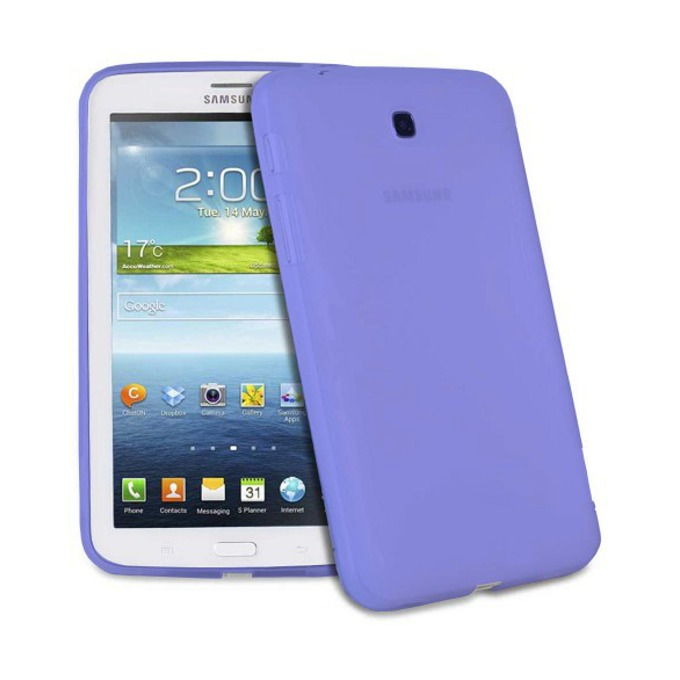 "Протектор S-P3203 за Samsung T210 Tab3 7"" (17.78 cm), силиконов, син image"