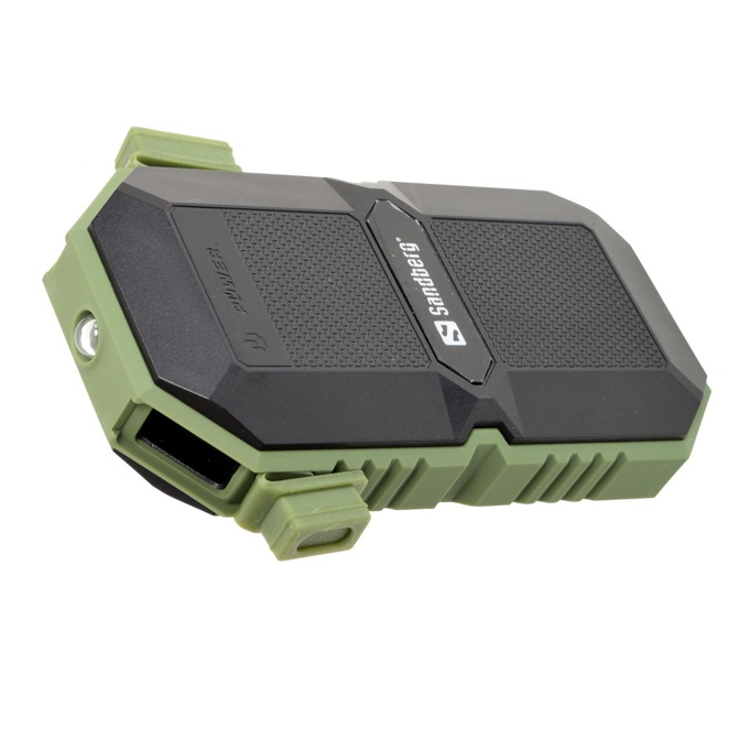 Външна батерия/power bank/ Sandberg 420-27, 6000 mAh, IP67 защитен корпус, черно/зелена image