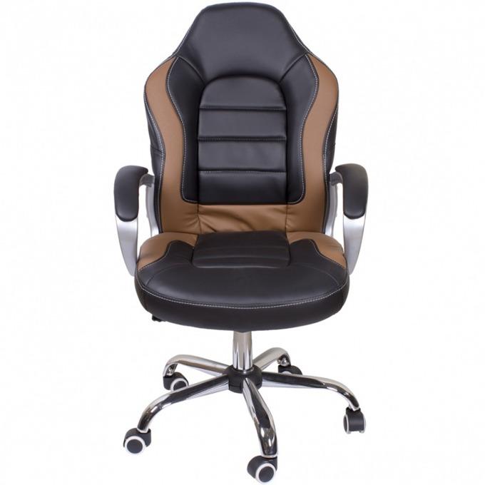 Директорски стол Lotos RT-226, еко кожа, люлеещ механизъм, хромирана петлъчева основа image