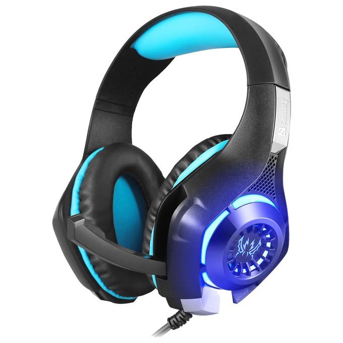 Слушалки Sandberg Twister, микрофон, гейминг, черни/сини image