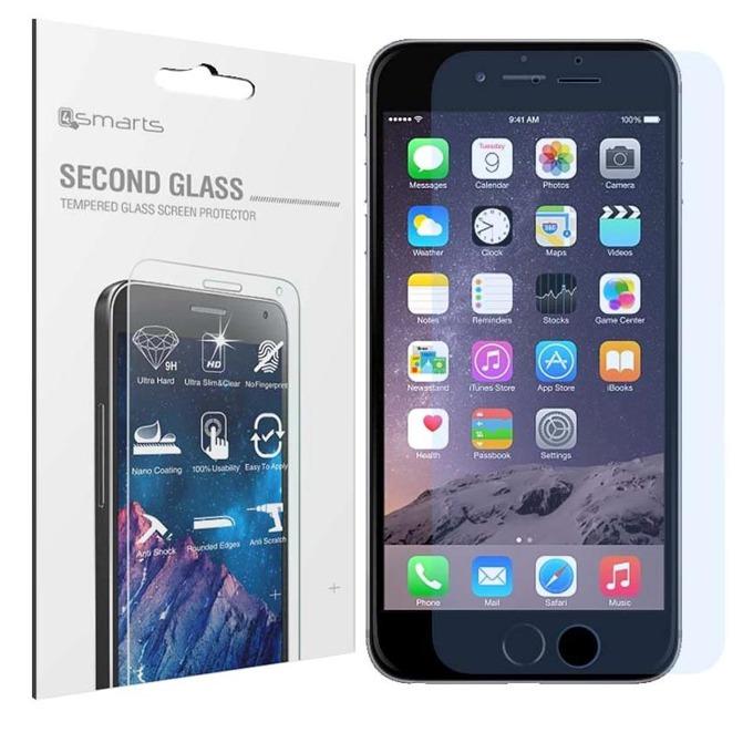 Протектор от закалено стъкло /Tempered Glass/ 4smarts Second Glass за iPhone 6, прозрачен image