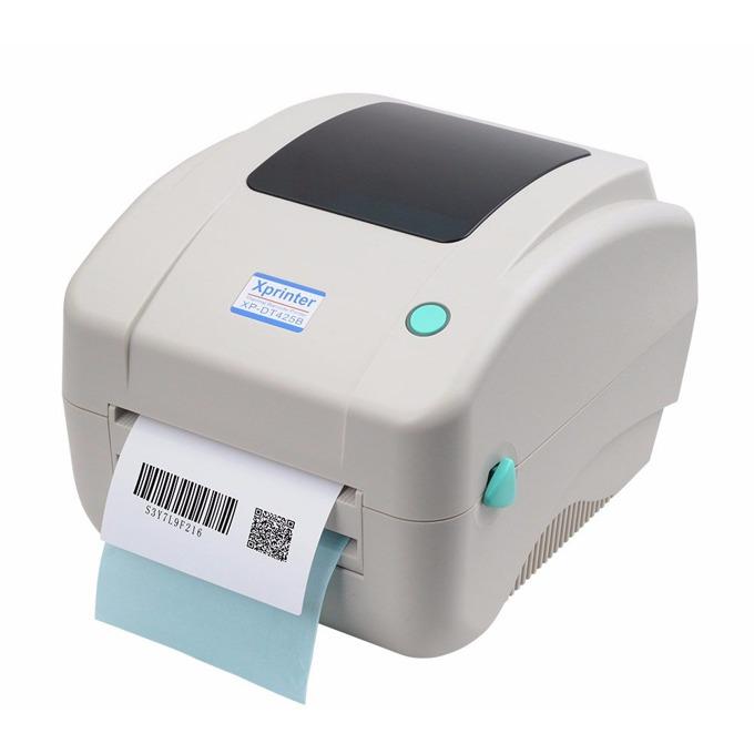 Баркод принтер Xprinter XP-DT425B, 8 dots/mm(203DPI), 4MB SD SLot up to 4GB, ширина етикет 108 mm image