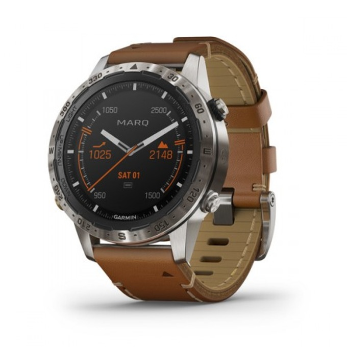 Смарт часовник Garmin MARQ™ Expedition, титаниев корпус, до 12 дни работа, Bluetooth, Wi-Fi, кафяв image