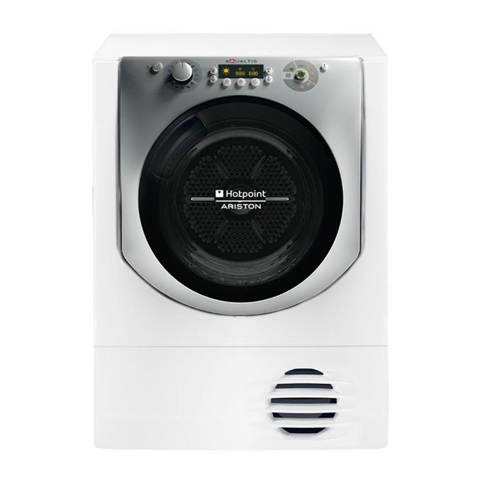 Сушилня Hotpoint-Ariston AQC9 4F5 T/Z1, клас А+, 9 кг. капацитет, 16 програми, свободностояща, 60 cm. ширина, защита за деца, бяла image