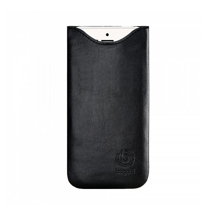 """Калъф """"джоб"""" Bugatti SlimFit, естествена кожа, ръчна изработка, за iPhone 6, черен image"""