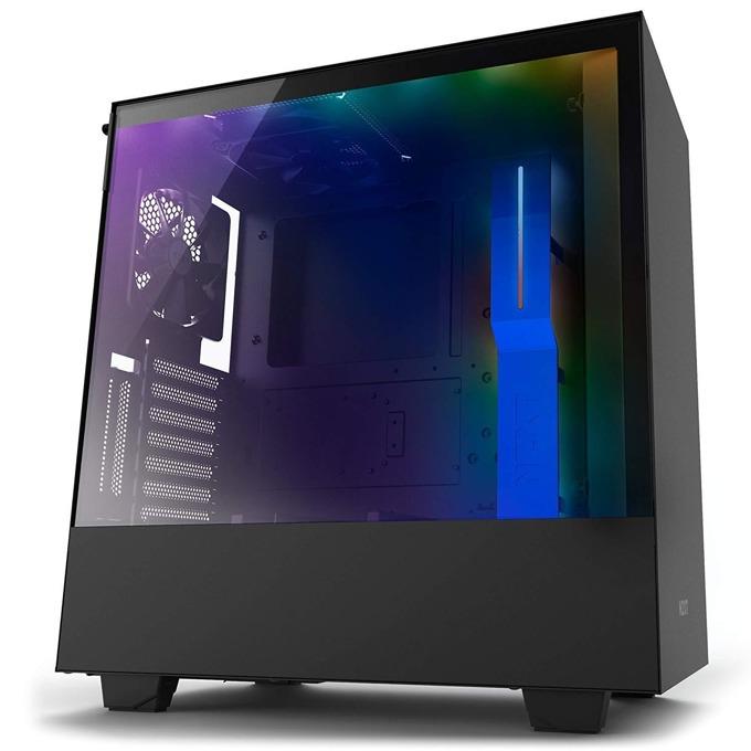 Кутия NZXT H500i CA-H500W-BL, ATX/mATX/mini-ITX, 2x USB 3.1 Gen1, страничен прозорец от закалено стъкло, черна, без захранване image