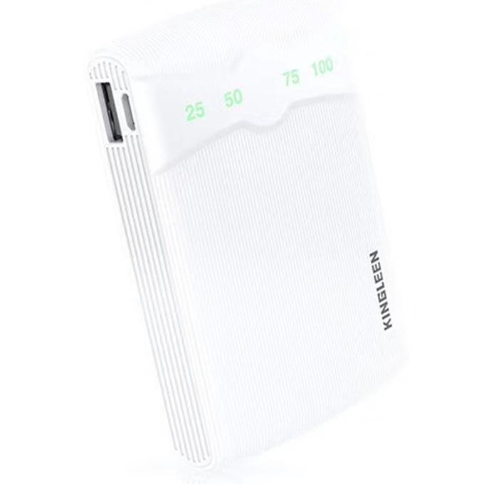 Bъншна батерия/power bank/ Kingleen 301S, 60000mAh, бяла image