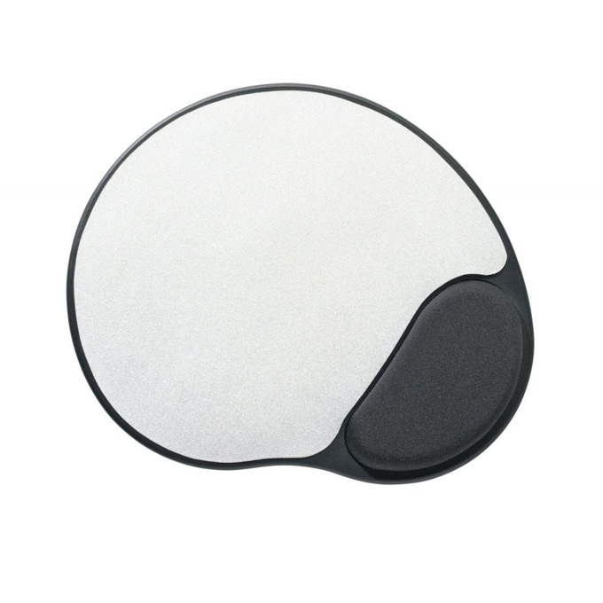 Подложка за мишка Ednet 64024, черно-сребристо, 265 x 225 x 4 мм image