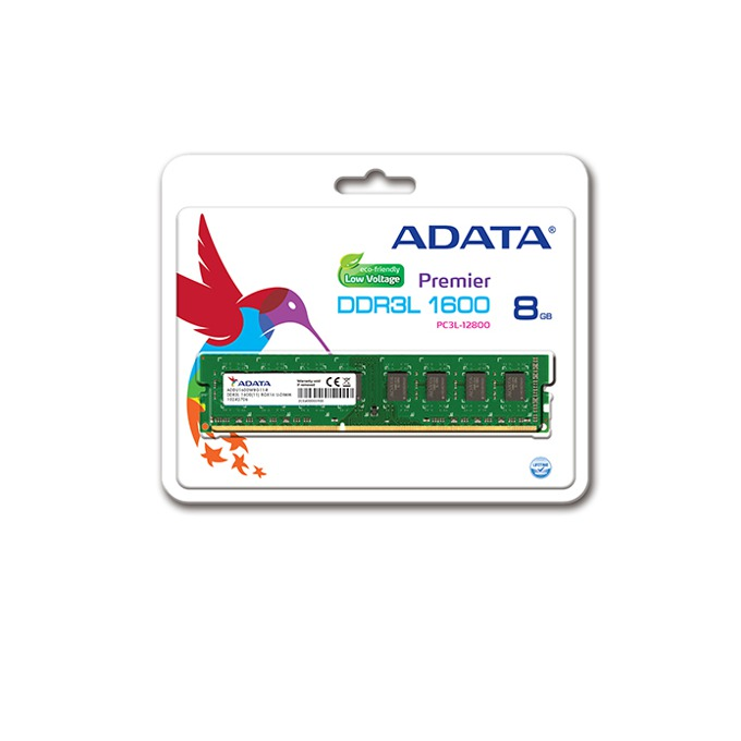 Памет 8GB DDR3L 1600MHz, A-Data Premier, 1.35V image