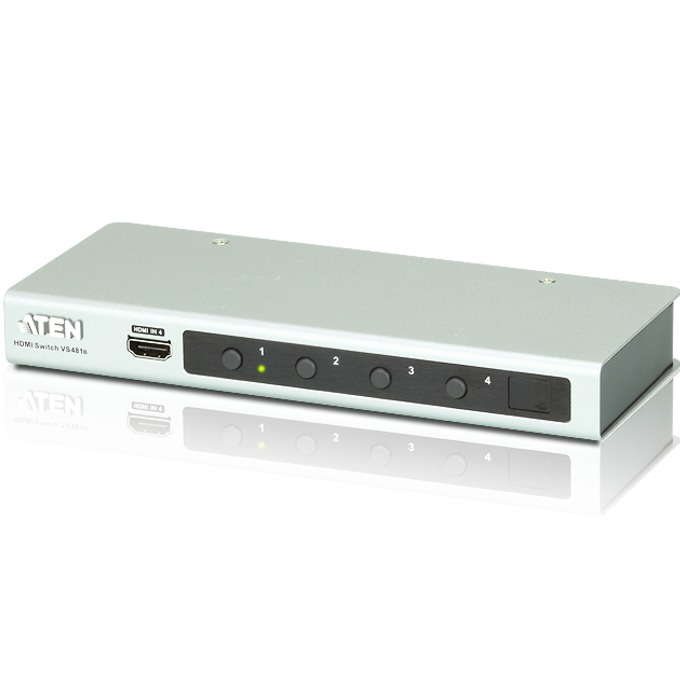 KVM Switch ATEN VS481B, от 3x HDMI(ж), 1x RS-232(ж) към 1x HDMI(ж), 1 устройство image
