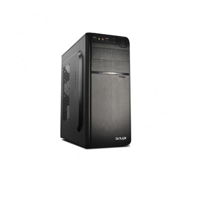 Кутия Delux DW600, ATX/mATX, USB 2.0, черен, 450W захранване image