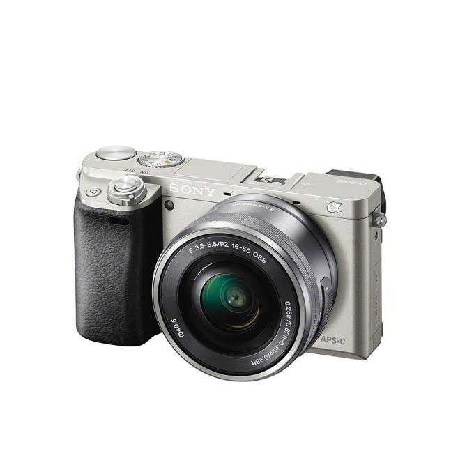 """Фотоапарат Sony Exmor APS HD ILCE-6000L, сребрист, 3xOptical zoom, 24.3Mpix, 3"""" (7.62cm) екран, SDHC/SDXC, micro HDMI image"""