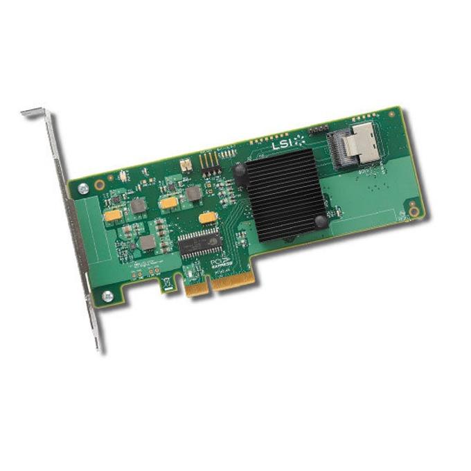 PCI-E x4, LSI SAS 9211-4i Sgl, SAS/SATA3, (RAID 0,1,1E, and 10) image