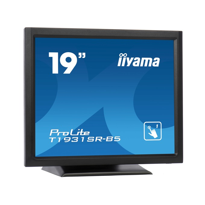 "Монитор Iiyama ProLite T1931SR-B5, 19"" (48.26 cm), TN панел, SXGA (1280x1024), 5ms, 1000:1, 200cd/m2, DP, HDMI, VGA image"