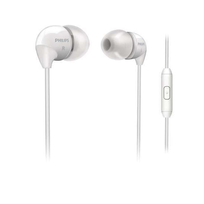 Слушалки Philips SHE3595WT тип тапи, бял  image