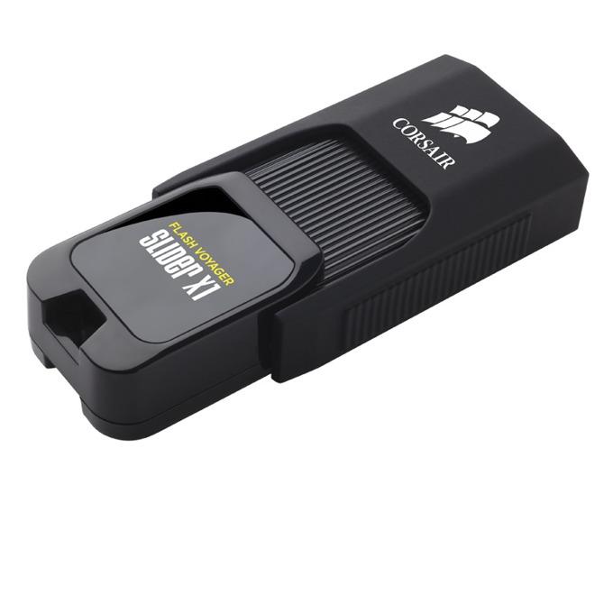 Памет 128GB USB Flash Drive, Corsair Flash Voyager Slider X1, USB 3.0, черна  image