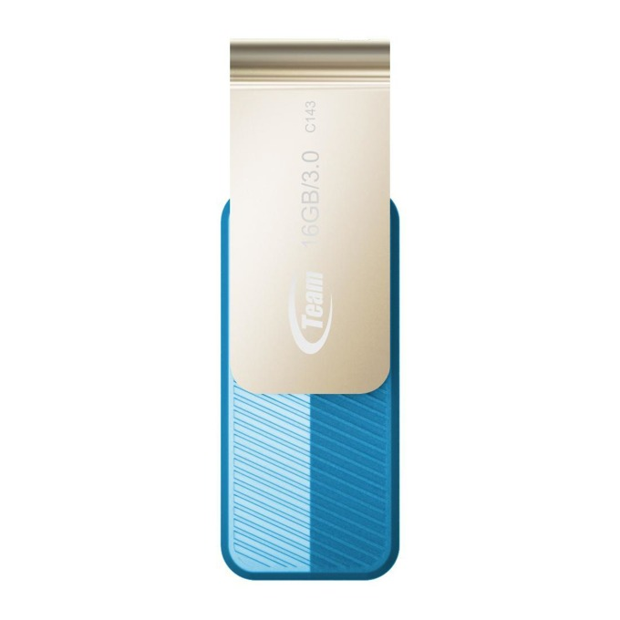 16GB USB Flash Drive, Team Group C143, USB 3.0, синя image