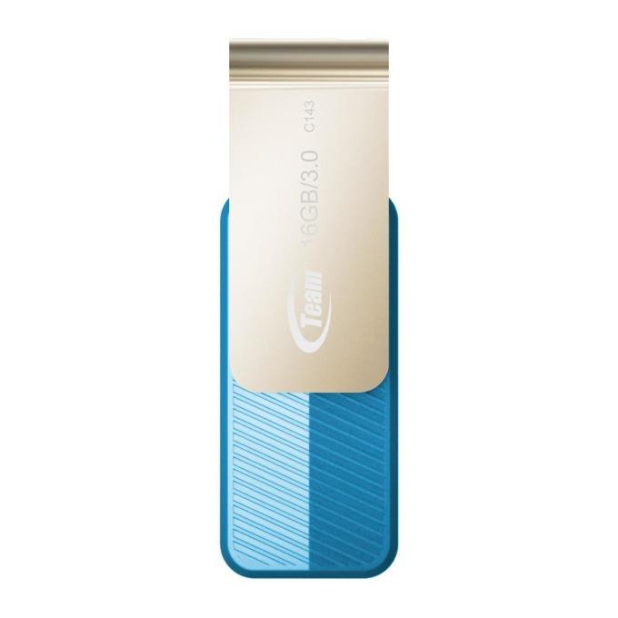 Памет 16GB USB Flash Drive, Team Group C143, USB 3.0, синя image