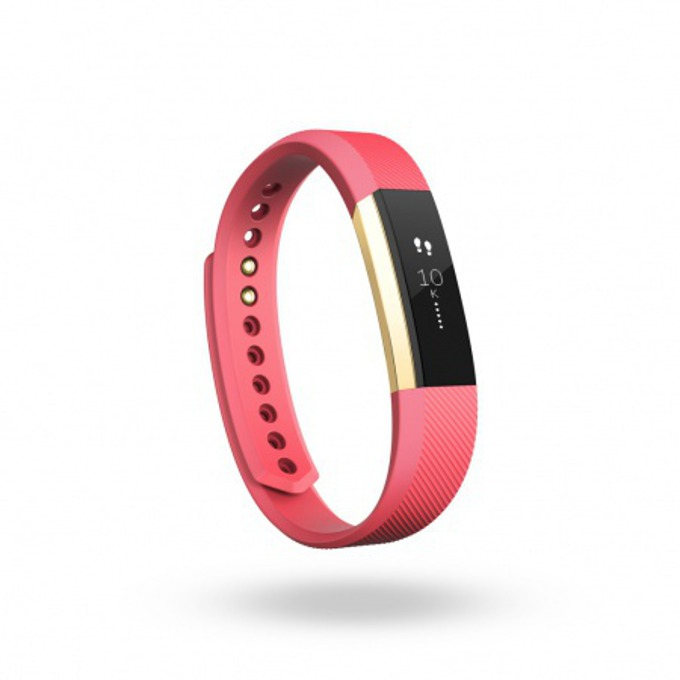 Смарт гривна Fitbit Alta Small Size, Bluetooth, OLED Tap Display, Mac OS X 10.6 (или по-нова), iPhone 4S (или по-нова), iPad 3 gen. (или по-нова), Android and Windows 10 devices, златисто-розова image