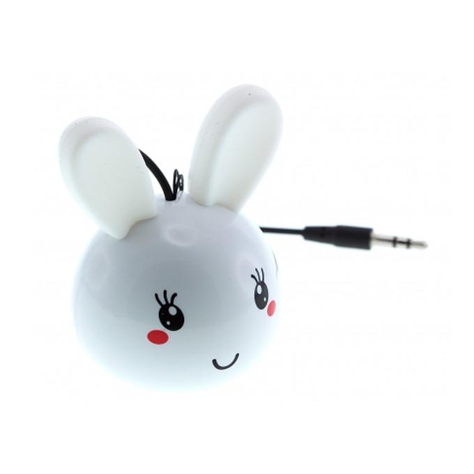 Тонколона KitSound Mini Buddy Bunny, 1.0, 2W, USB, бяла, вградена Li-Ion батерия image