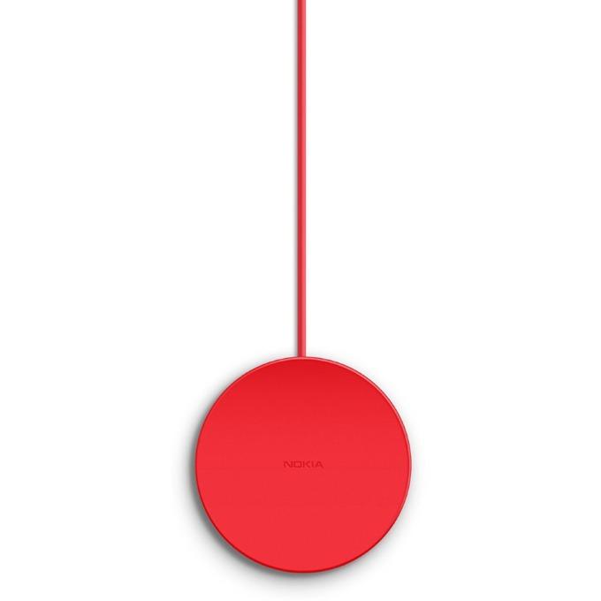 Зарядно у-во за Nokia и др IQ мобилни устройста, USB А(м), 5V, безжично, червен, BULK image