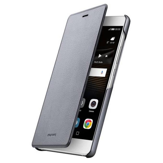 Калъф за Huawei P9 Lite, Flip Cover, сив  image