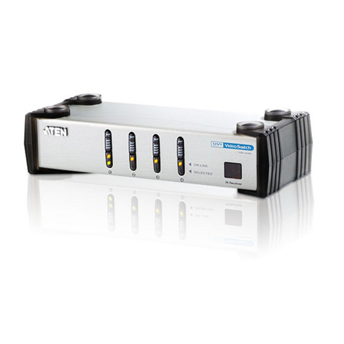 KVM Switch ATEN VS461, 4x DVI(ж), 8x RCA Jack(ж) към 1x DVI(ж), 2x RCA Jack(ж), 1 устройство image