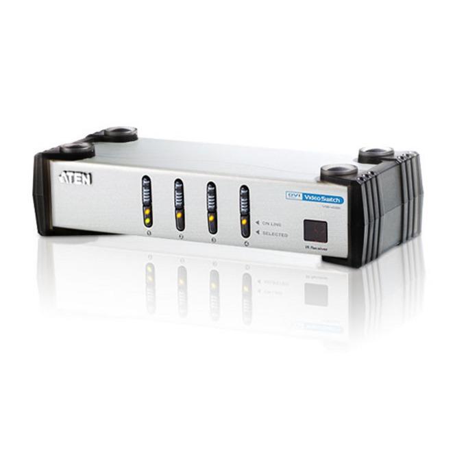 KVM Switch ATEN VS461, 4x DVI(ж), 8x RCA Jack(ж) към 1x DVI(ж), 2x RCA Jack(ж), 1 устройство image