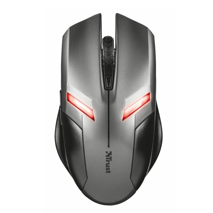 Мишка TRUST Ziva Gaming, оптична(2000 dpi), USB, сива, LED осветление image