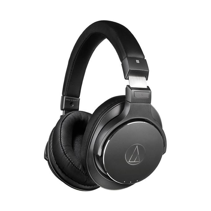 Слушалки Audio-Technica ATH-DSR7BT, безжични(Bluetooth 4.2)/NFC, микрофон, Pure Digital Drive система, до 10м обхват, до 15 часа време за работа, бързи бутони, USB, черни image