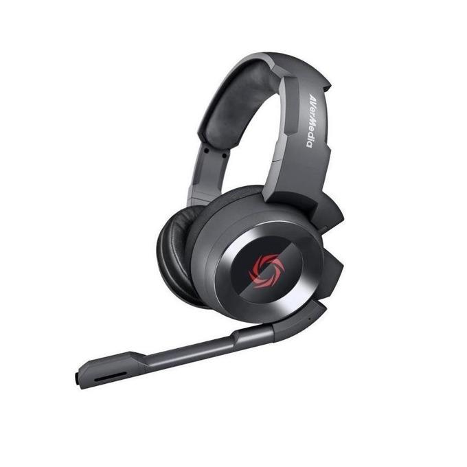 Слушалки AVerMedia SonicWave GH335, микрофон, бързи бутони, гейминг, 3.5мм жак, черни image