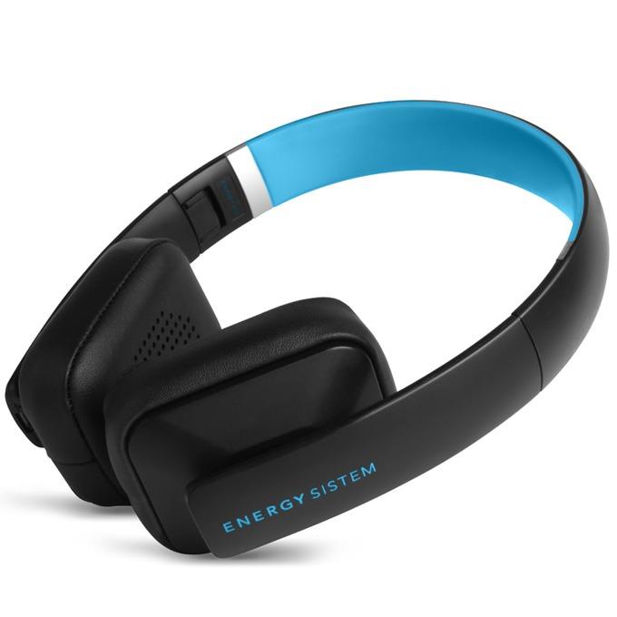 Слушалки Energy BT2 Bluetooth Cyan, Bluetooth, микрофон, черно/сини image