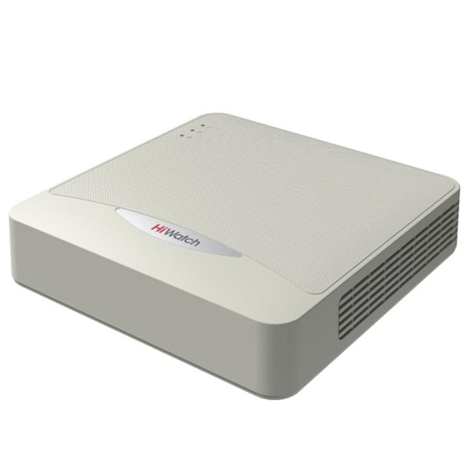 IP видеорекордер HiWatch DS-N104, 4 канала, H.264, 1x SАТА, 2xUSB, 1x RJ -45 100Mbit, 1x HDMI, 1x VGA  image