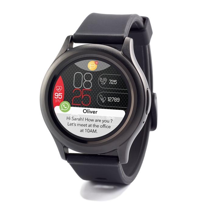 Смарт часовник MyKronoz ZeRound3, водоустойчивост, тъчскрийн, аларма, измерване на разстояние/изгорените калории/пулс, мониторинг на съня, Bluetooth 4.2, Android, черен image