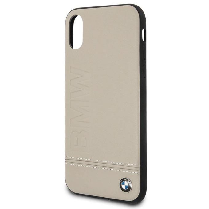 Калъф Apple iPhone X, страничен протектор с гръб, еко кожа и поликарбонат, BMW Signature Logo Case, вътрешността предпазва вашето мобилно устройство от надраскване, кафяв image