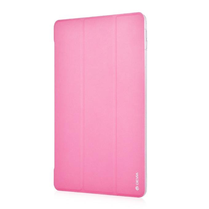"""Калъф /тип бележник/ Devia Light Grace за iPad mini 4, до 7.9""""(20cm), кожен, поставка, розов image"""