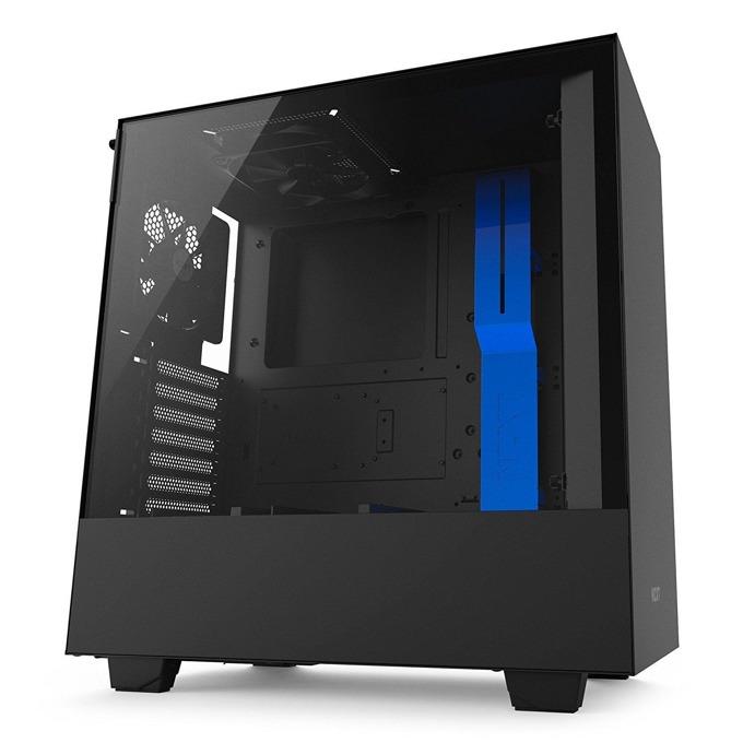 Кутия NZXT H500 CA-H500B-BL, ATX/mATX/mini-ITX, 2x USB 3.1 Gen1, страничен прозорец от закалено стъкло, черна, без захранване image