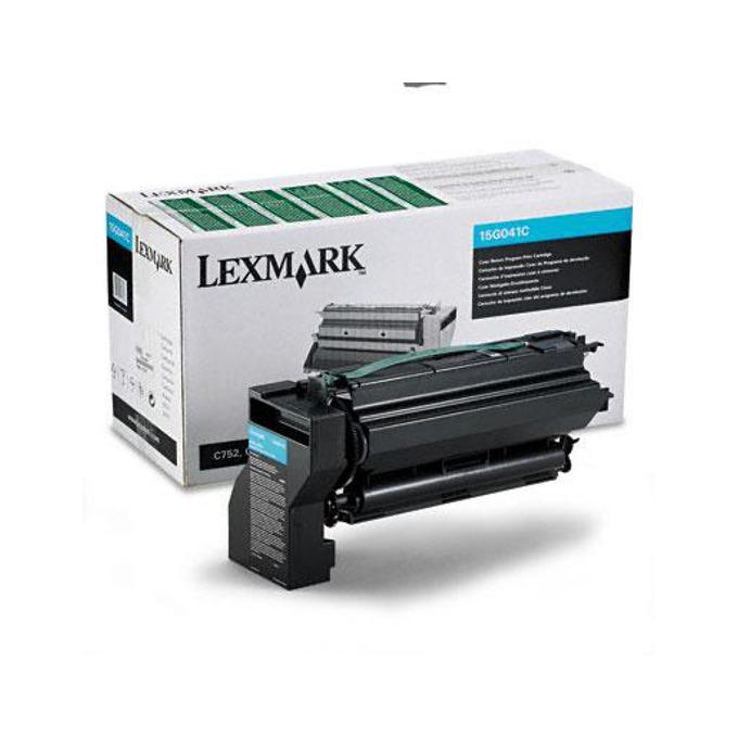 КАСЕТА ЗА LEXMARK C 752 - Cyan - Return program cartridge - P№ 15G041 C - заб.: 6000k image