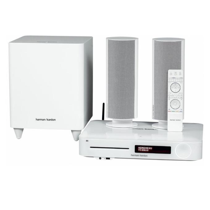 Система за домашно кино harman/kardon BDS 480W, 2.1, безжична, Bluetooth, RMS(2x65W + 200W), бяла image