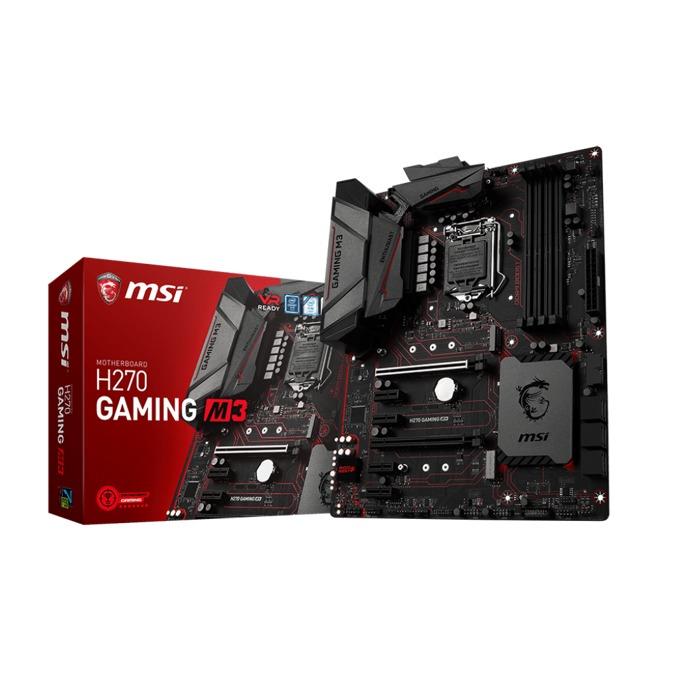 Дънна платка MSI H270 GAMING M3, H270, LGA1151, DDR4, PCI-E(DVI,HDMI)(CF), 6x SATA 6Gb/s, 2x M.2 Socket, 10x USB 3.1, 6x USB 2.0, ATX image