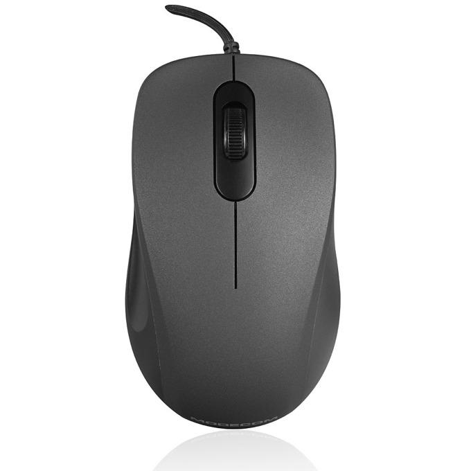 Мишка Modecom MC-M10S, оптична (1000 dpi), USB, 1.5m кабел, черна image