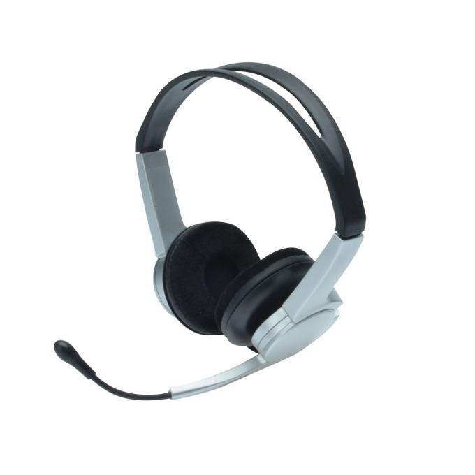 Слушалки Ednet 83123, USB, микрофон, сиви image