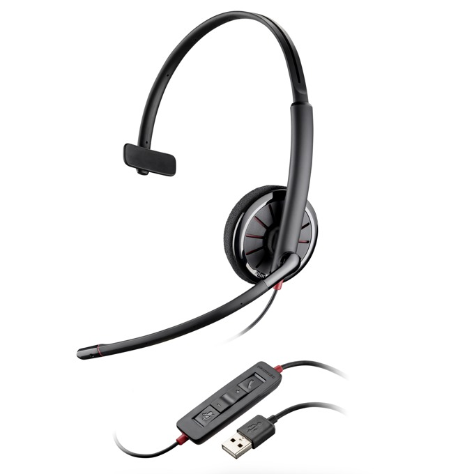 Слушалки Plantronics Blackwire C310, жични, шумоизолиран микрофон, DSP, USB, черни image