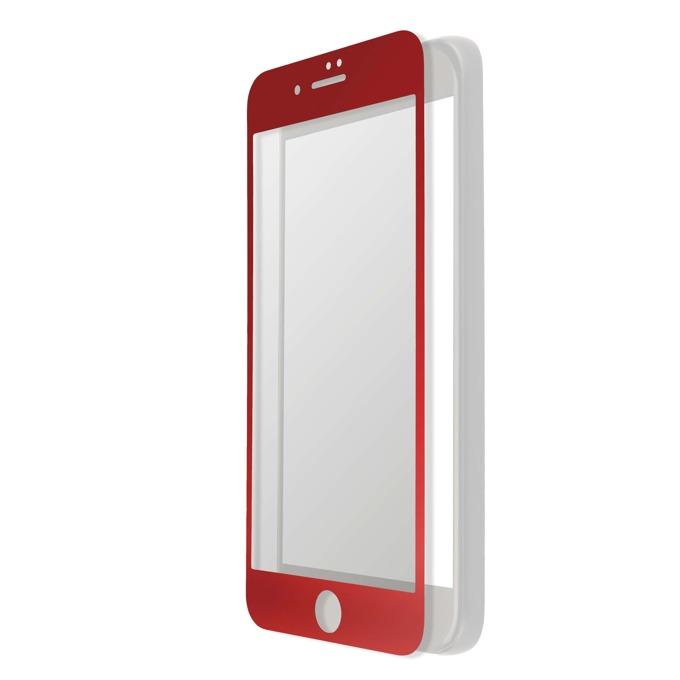Протектор от закалено стъкло /Tempered Glass/, 4smarts, за iPhone 7 Plus (червен) (смартфон) image